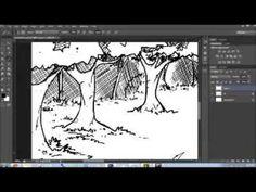 Traintracks (outline)  Adobe Photoshop CS6 + Intuos 3 Graphics Tablet (Wacom). Digital Speed Art.  Music: Princess Mononoke - Princess Mononoke.
