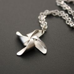 Pinwheel necklace