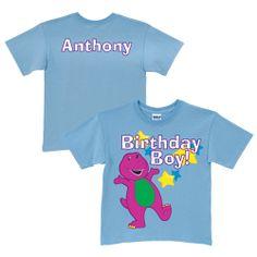 Barney Birthday Boy Light Blue T-Shirt from PBS Kids Shop