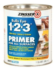 Rust-Oleum 2004 Zinsser Bulls Eye 1-2-3 White Water-Based Interior/Exterior Primer Sealer, 1-Quart - Amazon.com  Kan det købes i Danmark?