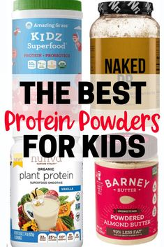 Are you looking for the best protein powders for kids on the market today, or for a healthier alternative to Pediasure? This guide will help you discover what ingredients to look for and what to avoid when buying the best protein powder for your child. Protein Muffins, Protein Snacks, Protein Dinner, Protein Powder Pancakes, Protein Rich Foods, Healthy Protein, Protein Cake, Protein Cookies, Protein Recipes