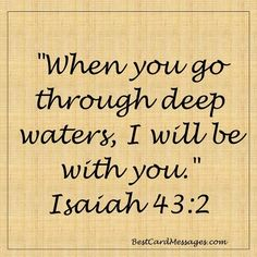 It is always a good thing to go to scripture for strength.
