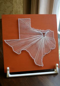 Texas Longhorn // Nail and String Tribute to UT from Curiously Wrought / Etsy
