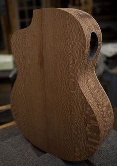Crossover Guitar Construction, lacewood and cedar