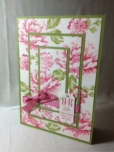 of Blossoms Stampin' Up! UK Demonstrator Laura Mackie: Layers of BlossomsStampin' Up! UK Demonstrator Laura Mackie: Layers of Blossoms Homemade Greeting Cards, Hand Made Greeting Cards, Making Greeting Cards, Greeting Cards Handmade, Homemade Cards, Fancy Fold Cards, Folded Cards, Stampin Up Karten, Stamping Up Cards