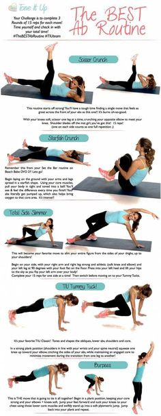 Tone It Up: Best Ab Workout // #pinaholicmyrie
