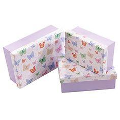 Chouko Schmetterling Design Set von 3 Rechteckige Geschenkboxen Puckator http://www.amazon.de/dp/B00MXBL0FS/?m=A37R2BYHN7XPNV