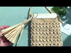 Crochet Bag Tutorials, Straw Bag, Bags, Tutorials, Chrochet, Tejidos, Dressmaking, Handbags, Taschen