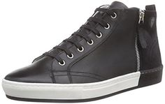 Strellson Evans High Sneaker calf/suede, Herren Hohe Sneakers, Schwarz (900), 46 EU - http://uhr.haus/strellson/46-eu-strellson-evans-herren-hohe-sneakers
