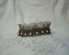 Couture Crown for antique french bebe or wax cabinet by Etrennes