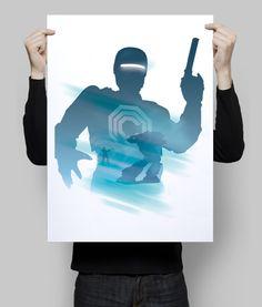 Alternative robocop movie poster art digital print. #robocop #etsy #goldenplanet #robotprint #robotposter #movieposter #wallart #walldecor