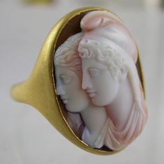 Circa 1780 neoclassical agate cameo ring.