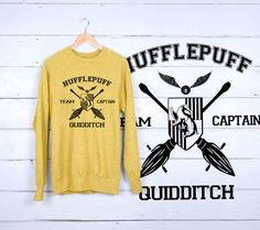 This Hufflepuff Quidditchs Sweatshirt is made of premium quality cotton for a great quality soft feel, and comfortable retail fit.  Details