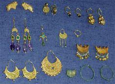 Ciprus, brincos em formato de lua 2, período bizantino