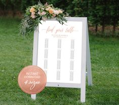 Editable PDF Seating Chart Find Your Table Calligraphic Wedding Seating Chart Template DIY Seating Board Table Printable Rose Gold #DP140_58 by DreamPrintable on Etsy  #wedding #instant #download #printable #image #graphic #digital #reception_sign #PDF #Calligraphy #Sign #events #wedding_printable #wedding_design #Template #wedding_ceremony #wedding_sign #events_design