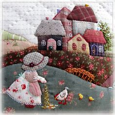 """Best 12 """"Legal Ideas for Patchwork"""" – Gold Needle Atelier – SkillOfKing. Wool Applique Patterns, Sewing Appliques, Applique Quilts, Applique Designs, Embroidery Patterns, Quilt Patterns, Block Patterns, Crazy Quilting, Crazy Patchwork"""