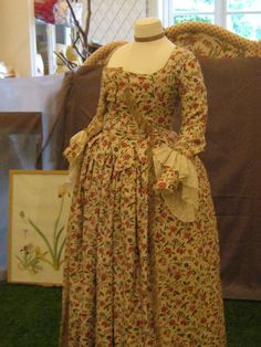 front of same toile gown from Musee de la Toile de Jouy  --perhaps a maternity gown  IMG_5282 by Heileen, via Flickr