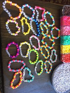 The sterling silver bracelets have been preferred among ladies. These bracelets are readily available in various shapes, sizes and designs. Rave Bracelets, Pony Bead Bracelets, Trendy Bracelets, Summer Bracelets, Pony Beads, Beaded Friendship Bracelets, Jewelry Bracelets, Jewlery, Colorful Bracelets