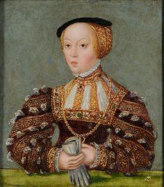 Portrait de Elisabeth d'Autriche, vers 1565 Lucas Cranach le jeune et son atelier