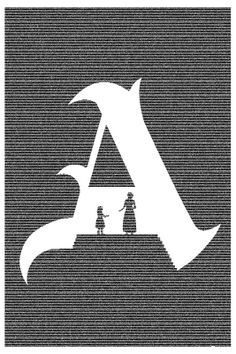 The Scarlet Letter by Postertext, featuring the entire book
