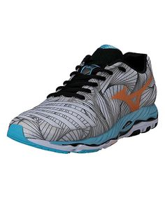 Look at this Mizuno White & Bright Marigold Wave Paradox Running Shoe on #zulily today!