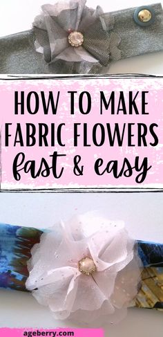 Looking for fabric flowers DIY tutorial? In this step by step fashion sewing tutorial I will show you how to make fabric flowers by folding fabric. Handmade cloth flowers is an easy sewing project even for beginners. Learn how to sew fabric flowers DIY. #sewingtutorials #easysewingpojects #fabricflowers Easy Fabric Flowers, Fabric Flower Tutorial, Cloth Flowers, Flower Making With Cloth, Design Your Own Clothes, Stretchy Headbands, Couture Sewing, Flower Template, Easy Sewing Projects