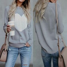 Check out over 60 fall outfits 2018 with jeans or pants, to skirts and dresses. These casual outfits are sure to inspire you for autumn! Look Fashion, Womens Fashion, Fashion Trends, Ladies Fashion, Fashion 2016, Casual Women's Fashion, Fashion Ideas, Fashion Images, Fashion Clothes
