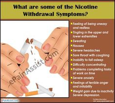 What are some of the Nicotine Withdrawal Symptoms?