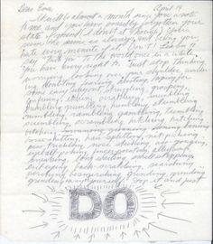 Letters of Note: DO