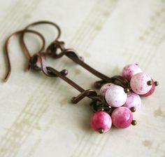 Pretty Pink Earrings by HarrysGirls on Etsy