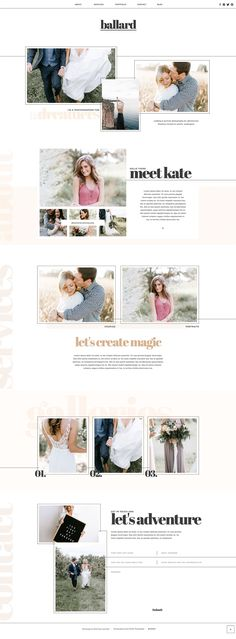 Romantic photography website by With Grace and Gold for Showit
