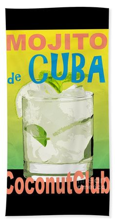 Coconut Beach Sheet featuring the photograph Mojito De Cuba Coconut Club by Edward Fielding