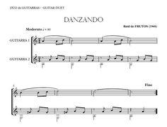 Danzando (R. de FRUTOS) Guitar duo. Very easy. Ideal for the beginning guitar. Free Score. http://www.guitarraul.com/p/37/danzando-r-de-frutos-gratis