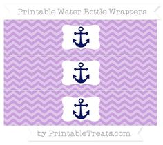 Wisteria Chevron  Nautical Water Bottle Wrappers