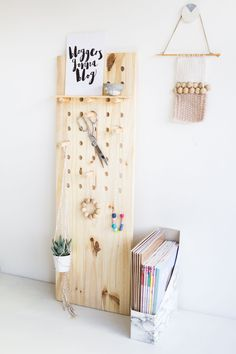 I'm getting myself and my craft room organised this year with help from this DIY Big Pegboard and lots of other helpful tips and tricks!