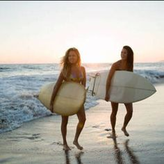 My girl friend and I used to surf, she won the East Coast championship and I couldn't stay on the board!  Lol