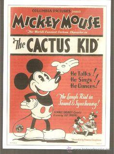Publicidad Micky Mouse entre años 50 y 60.