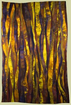"""Image of quilt titled """"Woodlands II"""" by Janet Kurjan"""