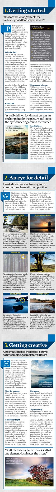 Landscape photography from idea to execution: free photography cheat sheet