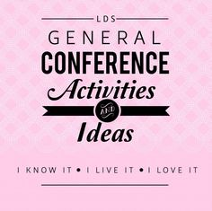 Cheap General Conference Ideas for Kids!~  Scroll down to see them all. :)