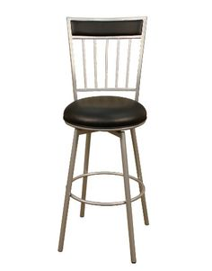 American Heritage Billiards Alliance Counter Height Stool, Silver