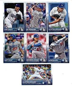 2015 Topps Baseball Cards Los Angeles Dodgers Team Set (Series 1- 12 Cards) Including Andre Ethier, Clayton Kershaw, Yimi Garcia, Joc…
