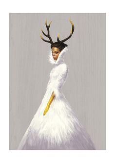 Ignasi Monreal Couture Illustrations for V Magazine Spain