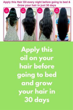 Apply this oil on your hair before going to bed and grow your hair in 30 days This is a homemade hair oil that will grow your hair super fast. You can see visible difference in just 30 days You will need Fresh ginger root Garlic cloves Black peppercorns C Home Beauty Tips, Beauty Hacks, Coconut Oil Hair Mask, Homemade Hair, Skin Tips, Hair Oil, Healthy Hair, Healthy Tips, Hair Growth