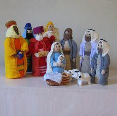 Hand Knit Nativity Set by PeanutandTommy on Etsy, $100.00