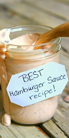 Beste Burger Sauce - Sauce and rubs - Lebensmittel Best Hamburger Sauce Recipe, Best Burger Sauce, Burger Sauces Recipe, Hamburger Recipes, Sauce Recipes, Beef Recipes, Cooking Recipes, Sauces For Burgers, Good Burger Sauce Recipe