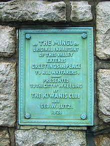Statue of Mingo, Greetings to Wayfarers, in Wheeling, West Virginia