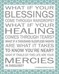 Blessings?