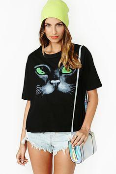 nasty gal. yin yang cat tee. #fashion