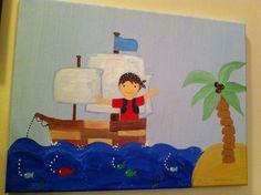 Hand Painted Little Pirate Boy Nursery art by mandyspaintings, $45.00